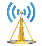 Digital transmitter sends signals from high tower Royalty Free Stock Image