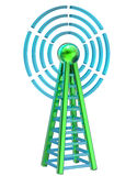 Digital transmitter sends signals from high tower Royalty Free Stock Images