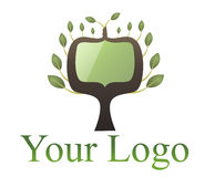 Digital tree logo Royalty Free Stock Photo