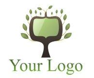 Digital tree logo royalty free stock photo