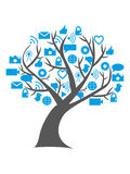 Digital social media tree. Digital tree / social media technology represented in the tree showing the development and growth of technology Royalty Free Stock Photography