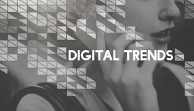 Digital Trends Technology Design Electronic Concept Royalty Free Stock Image