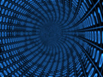 Digital tunnel. Digital binary blue tunnel over black background Stock Photos