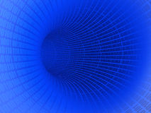 Digital Tunnel. The background of blue digital tunnel Royalty Free Stock Photos