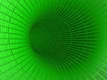 Digital Tunnel. The background of green digital tunnel Royalty Free Stock Photo