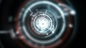 Digital tunnel on black stock video