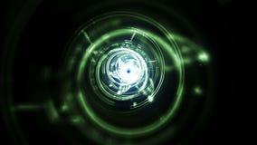 Digital tunnel effect stock video footage