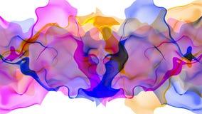 Digital turbulent paint splash smoke cloud soft abstract background blue red - new unique quality colorful joyful motion. New unique quality soft colorful joyful stock video footage