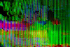 Digital TV broadcast glitch Royalty Free Stock Image