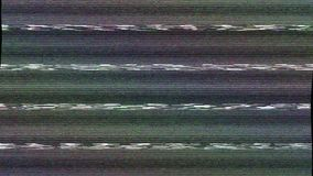 Digital TV broadcast glitch. Television screen with error signal, looping 4k UHD footage stock footage