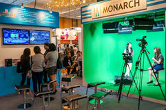 Digital TV and Broadcasting Technology Exhibition in Singapore Royalty Free Stock Photography
