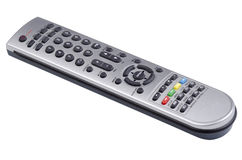 Digital TV and DVD remote control. On an angle stock photos
