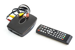 Digital TV på vit bakgrund Arkivbild