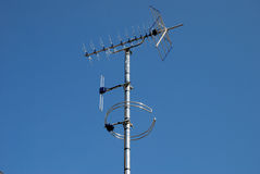 Digital TV and Radio Antennae. A new installation of a digital TV and radio antennae Royalty Free Stock Image
