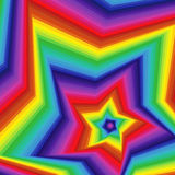 Digital twisted spectrum pentagonal star forms Stock Photography