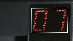 Digital two-digit display red stock video footage