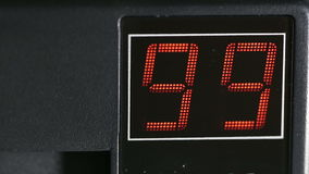 Digital two-digit display red stock footage