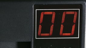 Digital two-digit display red. On off stock video footage