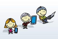 Digital ungar stock illustrationer