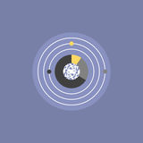 Digital universe flat icon illustration Royalty Free Stock Photo