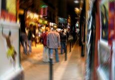 Digital-Unschärfe des lateinischen Viertels in Paris Stockfotos