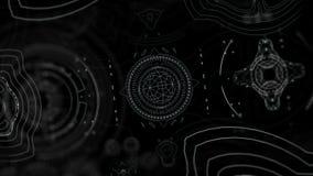 Digital Alien Interface vector illustration