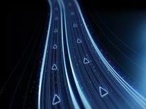 Digital väg för neon - matristeknologihuvudväg - Cyper utrymmetextur - körning av data Royaltyfria Foton