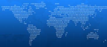Digital värld, abstrakt bakgrund Arkivfoton