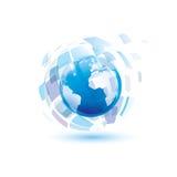 Digital värld, abstrakt vektorsymbol Royaltyfri Foto