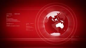 Digital värld med jordklotet stock illustrationer
