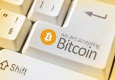 Digital valuta Bitcoin Royaltyfria Bilder