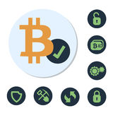 Digital valutatecken Arkivfoton