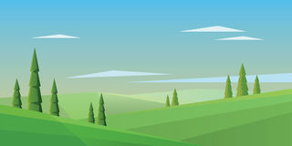 Digital vector abstract background with pines Stock Photo
