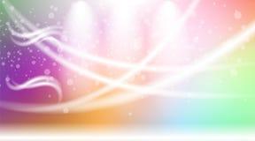 Digital vector abstract empty light rainbow Stock Photos