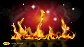 Digital Vector Abstract hot Fire flames Background. Ready for product placement and infographic, poster, ads, print or. Digital Vector Abstract hot Fire flames Stock Images