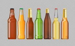 Digital vector beer mockup set royalty free illustration