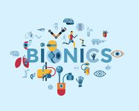 Bionics and artificial intelligence icon set. Digital vector bionics and artificial intelligence icon set infographics Royalty Free Stock Image
