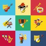 Digital vector blue music instruments Stock Photo