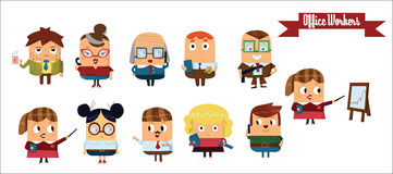 Digital vector cartoon characters set Royalty Free Stock Photo