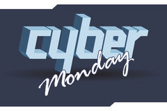 Digital vector cyber monday sale banner design Royalty Free Stock Images