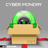 Digital vector cyber monday sale banner design Stock Photos