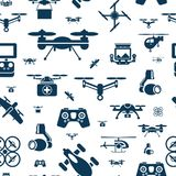 Digital vector flying drone objects color vector illustration