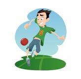 Digital vector funny cartoon royalty free illustration