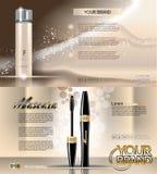 Digital vector golden glass bottle lotion stock illustration