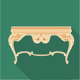 Digital vector golden vintage table  Royalty Free Stock Photography