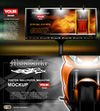 Digital vector, lightbox advertising with perfume Royalty Free Stock Image