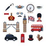 Digital vector london simple icons vector illustration