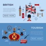 Digital vector london simple icons royalty free illustration