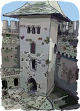 Digital vector painted Soroca Castle Royalty Free Stock Photo