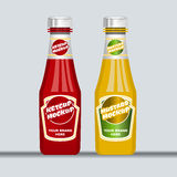 Digital vector red and brown ketchup and mustard Stock Images